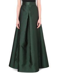 Max Mara Pianoforte Black Tenebre Satin Skirt - For Women