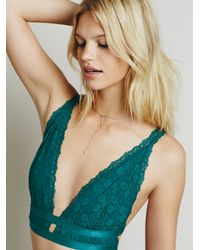 Free People | Blue Intimately Womens Call Me Darling Soft Bra | Lyst