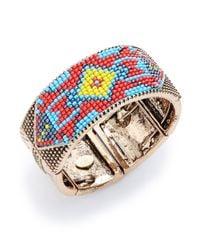 Cara | Blue Tribal Beaded Bracelet | Lyst