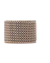 AKIRA - Metallic Chain Wrap Vegan Leather Bracelet - Lyst