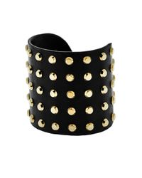 Michael Kors | Astor Gold-tone And Black-tone Studded Cuff | Lyst