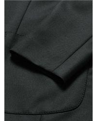 Dolce & Gabbana Black Peak Lapel Virgin Wool Blazer for men
