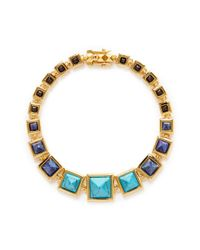 Eddie Borgo | Blue Graduated Gemstone Pyramid Necklace | Lyst