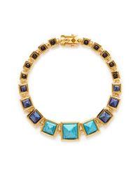 Eddie Borgo - Blue Graduated Gemstone Pyramid Necklace - Lyst