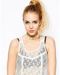 ASOS | White Daisy Choker Necklace | Lyst