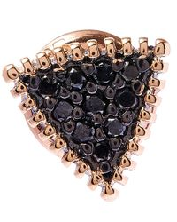 Kismet by Milka | Gold Triangle Black Diamond Stud Earring | Lyst