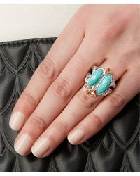 Stephen Dweck Blue Silver Turquoise Scarab Ring