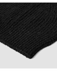 AllSaints - Black Montall Beanie Hat for Men - Lyst