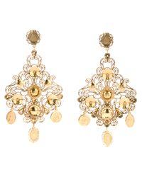 Dolce & Gabbana Metallic Chandelier Earrings