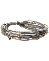 Chan Luu Gray Multi Strand Seed Bead Single Bracelet