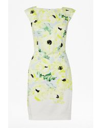 French Connection Yellow Holiday Poppy Cotton Dress
