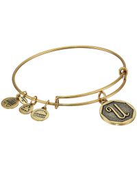 ALEX AND ANI | Metallic Initial U Charm Bangle | Lyst