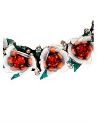 Shourouk | Red Daisy Crystal Necklace | Lyst