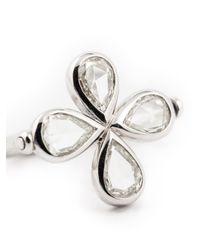 Marie-hélène De Taillac | Metallic Diamond Four-leaf Clover Ring | Lyst