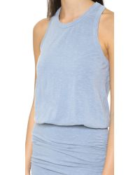 Sundry | Blue Sleeveless Dress - Midnight Pigment | Lyst