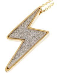 Marc By Marc Jacobs - Metallic Debbie Goldtone Lightning Bolt Necklace - Lyst