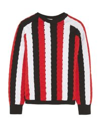 J.W.Anderson Red Stretch-knit Sweater
