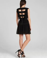 BCBGMAXAZRIA Black Dress - Britt Pleated Ruffle