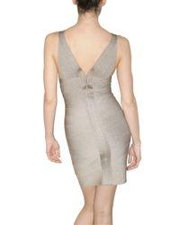 Hervé Léger - Metallic Lurex Bandage Dress - Lyst