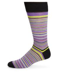 Saks Fifth Avenue | Multicolor Merino Wool-blend Multistriped Socks for Men | Lyst