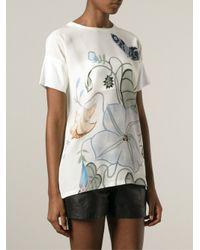 Gucci Multicolor 'flora Knight' Print T-shirt