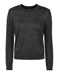 TOPSHOP | Gray Lurex Fine Gauge Knit Sweater | Lyst