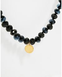 Ted Baker | Black Two Tone Bead Necklace | Lyst