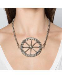 Pamela Love | Metallic Large Wheel Necklace | Lyst