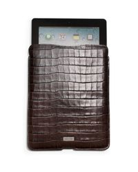 Michael Kors | Brown Croc-patterned Leather Ipad Case for Men | Lyst