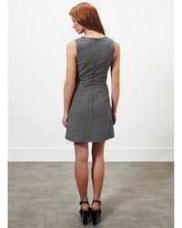 Miss Selfridge Black Jacquard Shift Dress