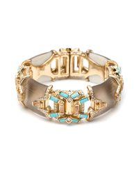 Alexis Bittar | Metallic Phoenix Deco Open Work Hinged Bracelet | Lyst