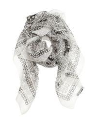 Alexander McQueen | Multicolor Classic Skull Modal-silk Scarf | Lyst