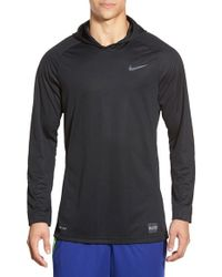 Nike | Black 'elite Shooter - Dri-fit' Long Sleeve Hooded Basketball Shirt for Men | Lyst