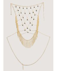 Bebe - Metallic Chain Fringe Body Jewelry - Lyst