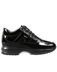 Hogan | Black Sneakers Interactive Padded H Pearl Leather | Lyst