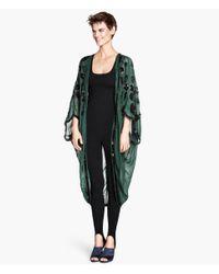 H&M Green Sequined Kaftan