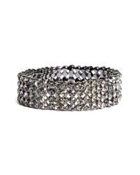 Tasha - Jeweled Stretch Bracelet - Hematite/ Black - Lyst