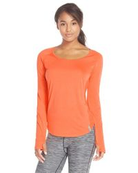 Under Armour | Orange Fly By Paneled Top | Lyst
