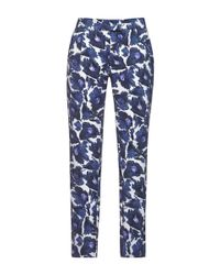 Mother Of Pearl - Blue Printed Stretch Cotton-Sateen Pants - Lyst