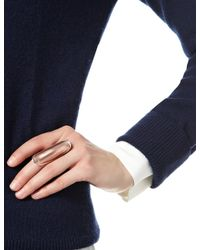 Iam By Ileana Makri | Pink Bronze Enamel Shield Ring | Lyst