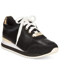 Bebe Black Sport Corine Demi Wedge Jogger Sneakers