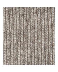 Stella McCartney - Gray Knitted Scarf - Lyst