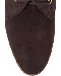 Tory Burch Brown Hilary Suede Boots