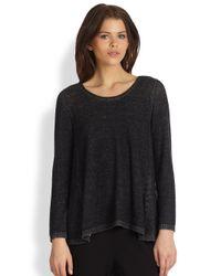 Eileen Fisher - Black Sweatshirt Tunic - Lyst