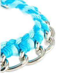 Ashiana - Pink Chain and Multi Thread Tassel Bracelet - Lyst