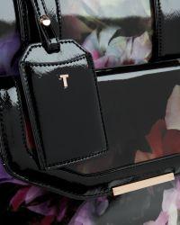 Ted Baker - Black Cascading Floral Travel Bag - Lyst
