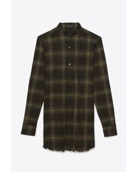 Helmut Lang | Green Wool Flannel Shirt | Lyst