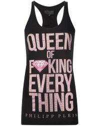 Philipp Plein | Black 'queen' Tank | Lyst