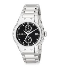 Breil | Metallic Pavé Crystal Stainless Steel Bracelet Watch | Lyst