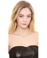 Michael Kors - Pink Pave Delicate Heart Necklace - Lyst
